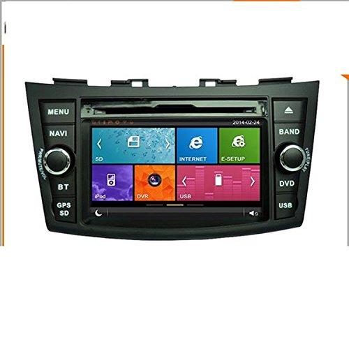 17,8cm-INDASH Auto DVD-Player mit BT/TV, Unterstützung Kamera, Lenkradfernbedienung, Touchscreen, USB/SD AUX, Audio Radio Stereo, Car Multimedia Haupteinheit für Suzuki Swift 2011201220132014