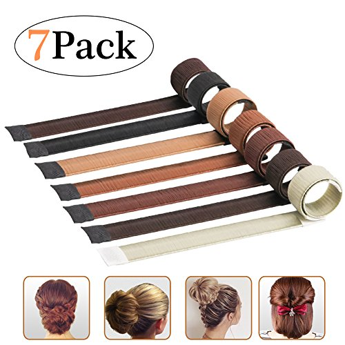 7 Pack Hair Styling Tool Bun Maker - Donut Hair Haarknotenband Haar Magic Twist Donut French Band für Damen Mädchen von BMK