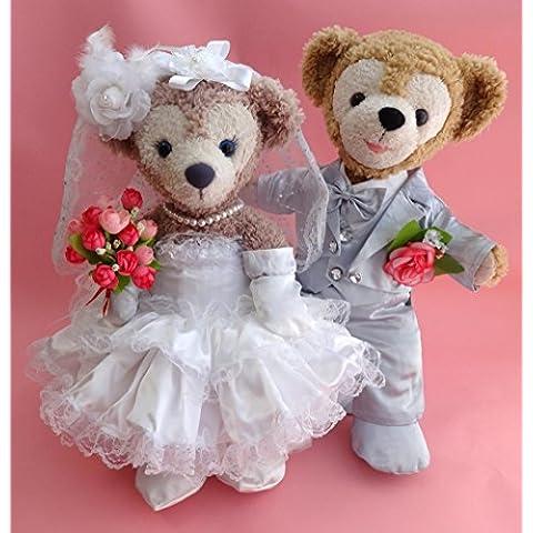 Duffy Wedding gorgeous snow-white wedding dress and silver dress coat set No.14 (japan import)