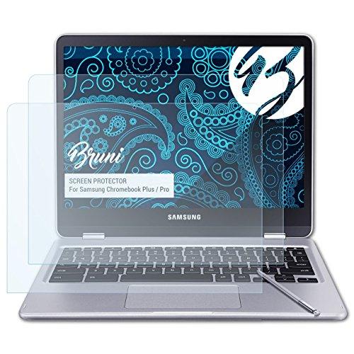 Bruni Schutzfolie kompatibel mit Samsung Chromebook Plus/Pro Folie, glasklare Bildschirmschutzfolie (2X)