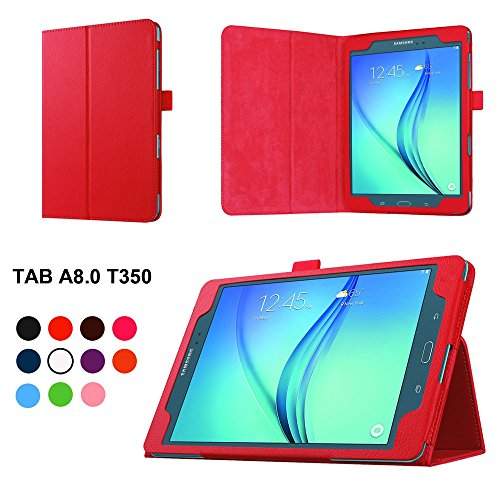 Hzssec PU Slim Folio Smart Cover per Samsung Galaxy Tab A 8.0 T350 tablet, con supporto e porta