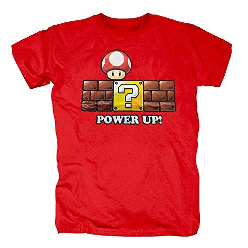 Halloween Saiyajin Kostüme Super (TSP Super Mario - Power Up T-Shirt Herren XL)