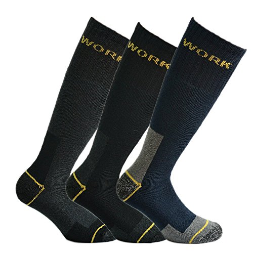 Fontana calze, 6 paia di calze da lavoro rinforzate su punta e tallone mod. lungo misura 43/46
