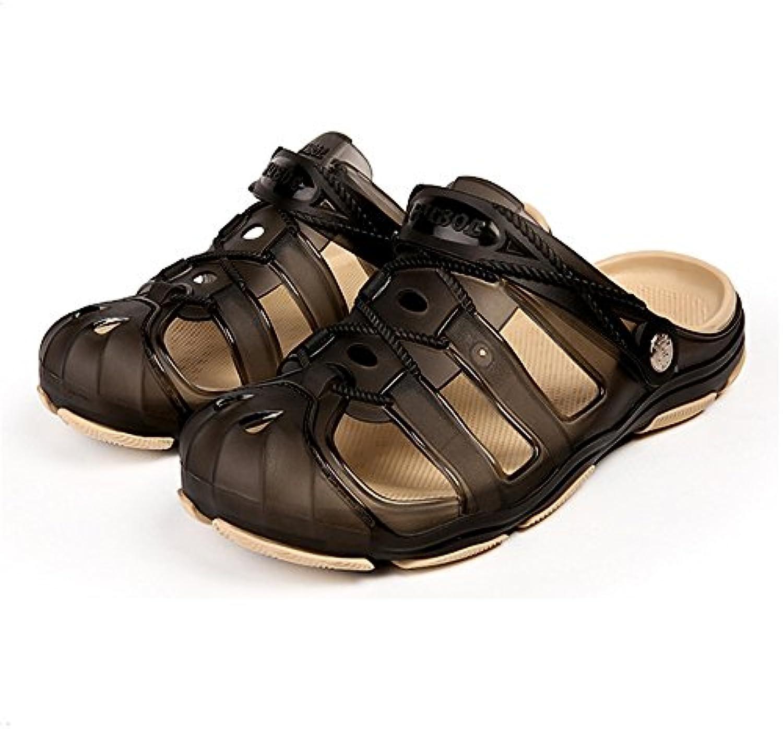 Wangcui - Zapatillas de Estar por casa de Piel sintética para Hombre -