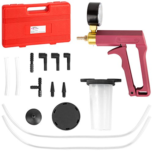 TecTake Vakuumtester Bremsenentlüfter mit integriertem Manometer inkl. Koffer Vakuumpumpe Bremsenentlüftungsgerät