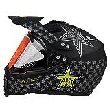 Woljay Cross Offroad Helm Motocross-Helm Fahrrad Für ATV MX Motocross Helm mit Sonnenblende Klar Rockstar (L)