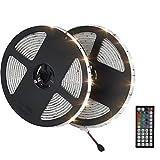 LED Streifen 10m/2x 5m strip light Lichtband RGB fernbedienung 300leds 5050SMD 44 Tasten Led Band IP65 wasserdichte LED Schlauch Leiste Lichtleiste für Küchenschrank Innen