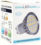 MiEco GU10 LED Bulb 4 Watt - Warm White - 320 Lumens - 120º Beam Angle - 240v - 50 Watt Equivalent