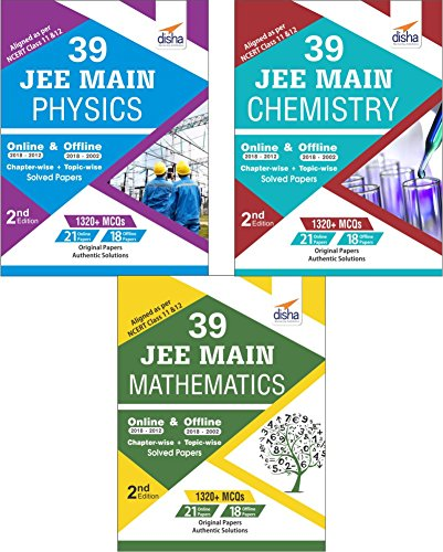 39 JEE Main Online & Offline Physics, Chemistry & Mathematics Topic-wise Solved Papers