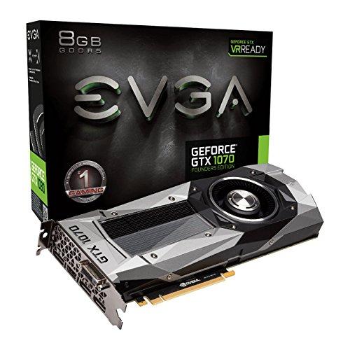 Preisvergleich Produktbild EVGA GeForce GTX 1070 Gründer Edition 8 GB GDDR5 1683 MHz Boost,  1506 MHz Boden,  DP,  HDMI,  DL DVI PCI-E Grafikkarte