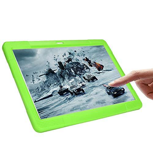 NIUQY Funda de silicona universal portátil adecuada para 10 10.1 pulgadas Tablet PC Android Personalizado Compatible Seguridad de moda Prevención de pérdidas a prueba de golpes (Verde)