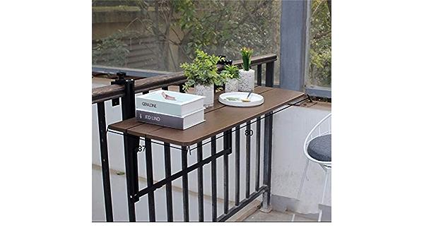 Adatto per Ristoranti con Balconi Size : 80x37cm Tavolo pieghevole parete Tavolo da Esterno per Balcone a Parete Tavolo da Giardino Pieghevole da Giardino Tavolo da Ringhiera da Terrazza