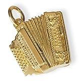 Bijou musique pendentif en plaqué or : accordéon