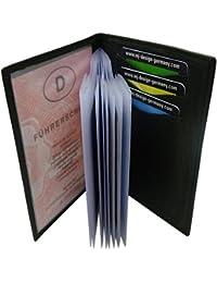 Cuero de búfalo elegante tarjetero para documento de identidad y tarjeta de crédito MJ-Design-Germany en diferentes colores