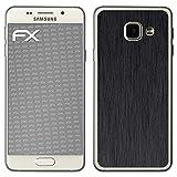 atFolix Samsung Galaxy A3 (2016) Skin FX-Brushed-Black Designfolie Sticker - Gebürstet/Bürsten-Struktur
