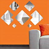 [Sponsored]LOOK DECOR Decorative Wall Silver(pack Of 7)Acrylic Sticker, 3D Acrylic Sticker, 3D Mirror, 3D Acrylic Wall Sticker, 3D Acrylic Stickers For Wall, 3D Acrylic Mirror Stickers For Living Room, Bedroom, Kids Room, 3D Acrylic Mural For Home & O