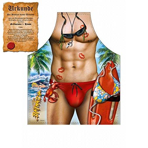 Kostüm Witzig Baywatch - Tini - Shirts Sexy Grillschürze ! Top Scherzartikel zum Geburtstag, für Partys, Karneval,...: Baywatch !! GRATIS Urkunde dabei !!