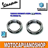 2 CERCHI CERCHIO RUOTA CROMATO 3 00 10 VESPA 50 SPECIAL R L N PK S XL FL HP