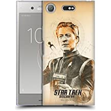 Ufficiale Star Trek Discovery Paul Stamets Grunge Caratteri Cover Morbida In Gel Per Sony Xperia XZ1 Compact
