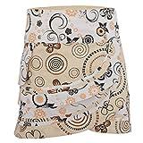 PUREWONDER süßer Wickelrock für Damen, 100% Baumwolle, verstellbare Größe, Rock mit Tasche, Design Nr. 182 Weiss