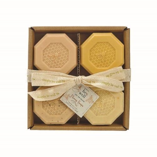 simply-be-well-organics-plant-based-set-of-four-honey-bar-soap-set-gift-box-individual-soaps-honey-h