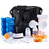 MADENAL Double Electric Breast Pump Travel Set, Ice Pack, Breastmilk Storage Bags, Super