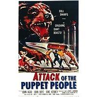 L' attacco del burattino people poster Movie 11x 17pollici–28cm x 44cm John agar John Hoyt giugno Kenney Sally Reynolds Susan Gordon - Reynolds Attacco