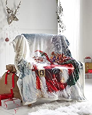Double sized Christmas Fleece Chair, Bed ,Sofa, Throws Different beautiful Designs