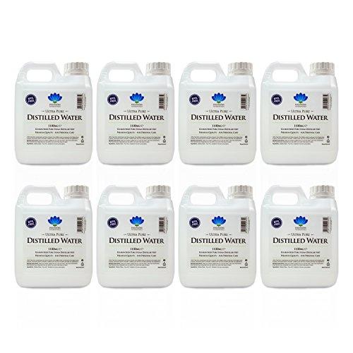 Destilliertes Wasser - 100% reiner Dampf destilliert H2O - 1100 ml -