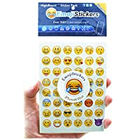 HighMount Emoji Stickers 20 Sheets with Same Happy Faces Kids Stickers from iPhone Facebook Twitter