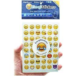 Emoji Pegatinas 20 hojas con las mismas caras felices Etiquetas engomadas de los niños del iPhone Facebook Twitter