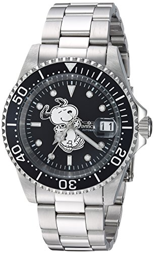 Invicta 24782 Character - Snoopy Unisex Wrist Watch Stainless Steel Automatic Black Dial