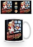 Super Mario Bros. Retro Super Mario (NES Cover) Mug, céramique, Multicolore, 11oz/315ml