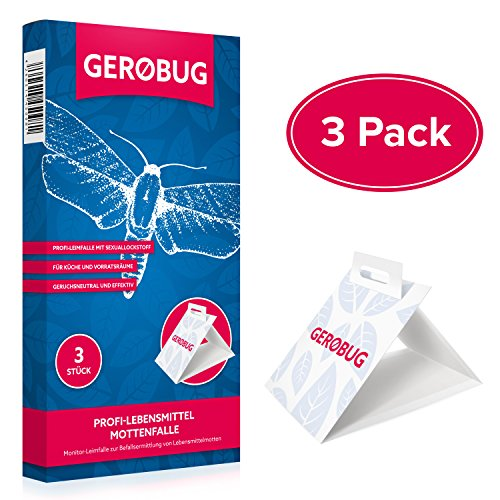 Preisvergleich Produktbild Gerobug 3 x Profi-Lebensmittelmottenfalle + Bonus Ebook zur Lebensmittelmotten-Bekämpfung