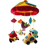 SHILOH Baby Kinderbett Mobile mit Spieluhr und Halter, Auto & Flugzeug