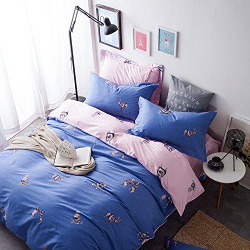 LSD-fubao Home Textile twill Baumwolle vier Stück Bettwäsche Doppelbett blatt Bettbezug, Gerald x, 1,8 m Bett