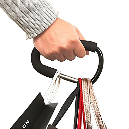 Wholesale Solutions® – 2x Black Large Buggy Clips For Pram Pushchair, Shopping Secure Hooks