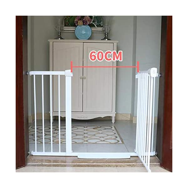 Punch-free pet door bar dog cat fence block encryption height child safety fence fence isolation door AA-SS-Safety Door ♥Squeeze and lift handle for easy one handed adult opening ♥Quick-release fittings for removal when not required ♥Includes stop pins for mounting at the top of stairs 7