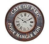 osters muschel-sammler-shop Maritime Metall-Wanduhr - Shabby Look- antik-Look - analoge Uhr - Nostalgie-Uhr- Antikoptik -braun 59cm Durchmesser