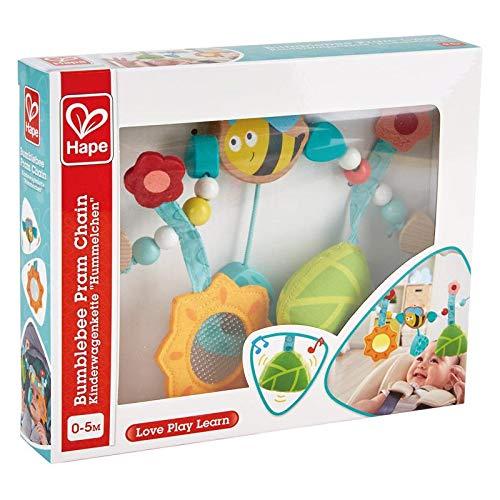 """Hape E0021 - Kinderwagenkette""""Hummelchen"""", einfache Befestigung, mit Glocke, ab Geburt"""