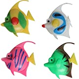 Foodie Puppies Artificial Plastic Fish Ornament For Fish Aquarium (Set Of 5 Fishes) - Color May Vary