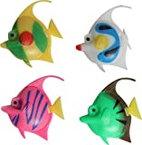 #4: Foodie Puppies Artificial Plastic Fish Ornament for Fish Aquarium (Set of 5 Fishes) - Color May Vary