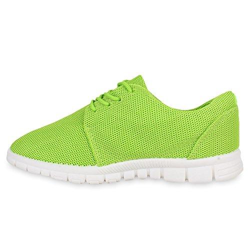 Damen Sportschuhe Muster |Laufschuhe Runners | Sneakers Schuhe Strass Metallic Hellgrün Berkley
