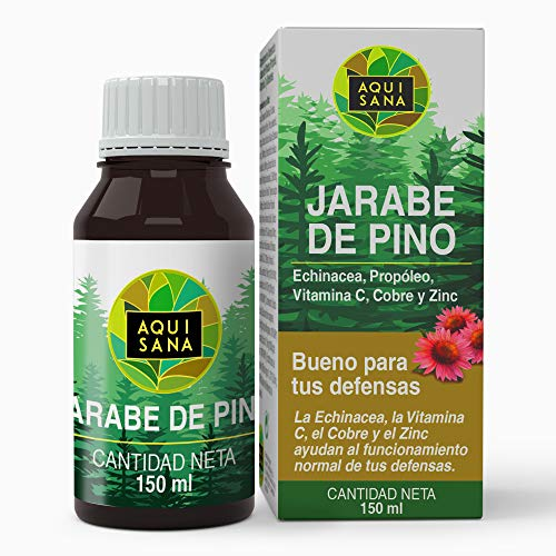 AQUISANA Sciroppo di Pino con Echinacea + Propoli + Vitamine + Minerali, 150 ml