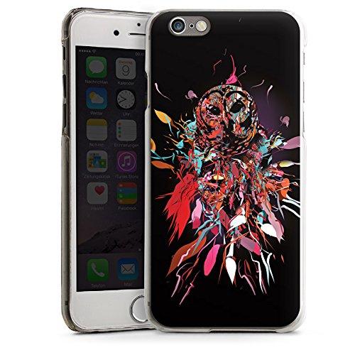 Apple iPhone 4 Housse Étui Silicone Coque Protection Hibou Hibou Art CasDur transparent