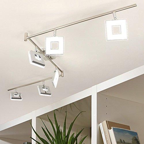 Licht-Trend Sempre Cube LED 6er-Balkenstrahler mit drehbaren Spots Deckenlampe