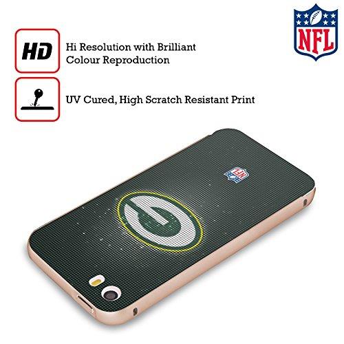 Ufficiale NFL Marmo 2017/18 Green Bay Packers Oro Cover Contorno con Bumper in Alluminio per Apple iPhone 5 / 5s / SE LED