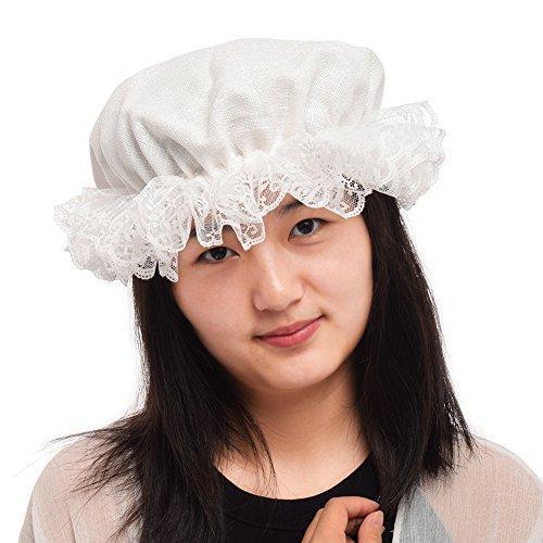 BLESSUME Damen Mob Cap Colonial Mob Hat Kostüm Zubehör (Kolonial Kostüm Zubehör)