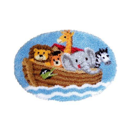 Vervaco - Kit de ganchillo de alfombra, diseño del arca de Noé, multicolor