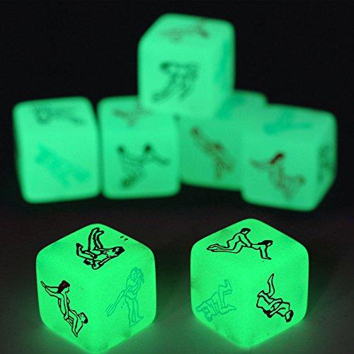 Colorful Würfel Spiel Spielzeug Sex Party Spaß Adult Couple Glow in the Dark Leuchtend